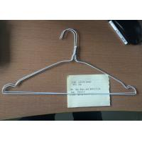 Metal White Wire Hangers Q195 Steel Material For Laundry 16 / 18 Inches