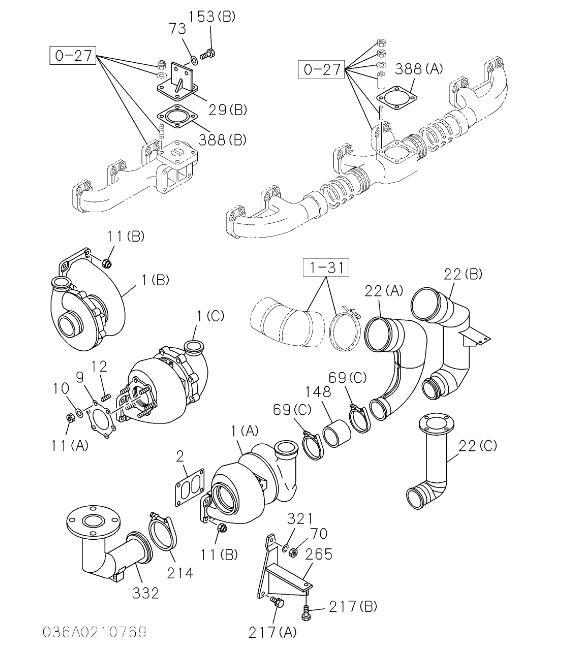 1144003360 6rb1 Tqa Engine Turbocharger For Hitachi Excavator Engine