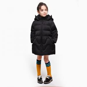 China Trendy Brand Clothing Children Outdoor Coat Puffer Genuine Fashion Winter Feather Girls Long Down Jacket on sale