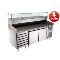 7 Drawers Pizza Prep Counter Height Adjustable  , Pizza Prep Station PZ2610TN/380