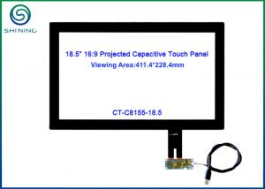 China Drive - free Capacitive Multi Touch Panel With Surface Hardness Above 6H 18.5 on sale