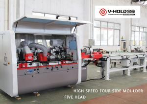 China Woodworking 5 Head Moulder Machine Automatic Feeding System Shock Resistance on sale