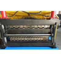 Double Layer Roll Forming Machine , Galvanised Steel Roof Panel Making Machine