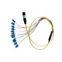 China MTP / MPO - LC Fiber Optic Patch Cord Customized Length For Premise Installations on sale