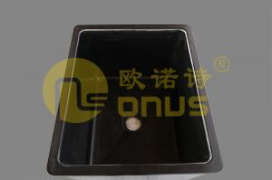 China Black Epoxy Resin Drop In Sinks / Heat And Chemical Resistant Sink on sale