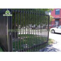 Decorative Wrought Iron Spear Top Fencing Climb Proof With Powder Sprayed Coating