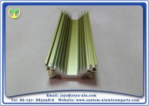 Golden Anodized Extruded Aluminum Profile Radiators / Heat
