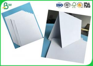 China Tear Resistant 400g -1000g Double Coated Glossy Duplex Paper For Printing With White Color on sale