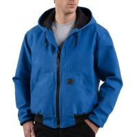 Mens Jacket With Hood , 100% Ring-Spun Cotton Sandstone Mesh Lined