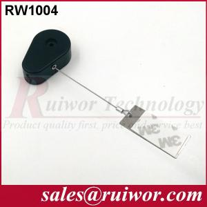 China RUIWOR RW1004 Drop-shaped Retractable Tether with Gluey Dog Tag End on sale