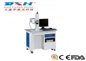 China 10-150khz Animal Ear Tag Laser Marking Machine , 10W Jewelry Etching Machine on sale