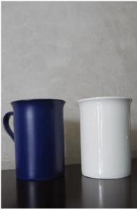 China Sublimation Full Changing color Bone Blue Mug on sale