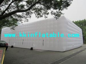 China Large portable white inflatable cube tent on sale