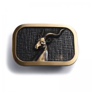 China High End Mens Metal Belt Buckle / Metal Strap Adjuster Buckle Antirust on sale