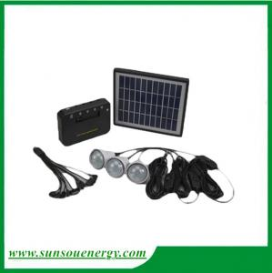 China Best quality portable solar system with 2600ma lithium battery, 4pcs led lights for hot sale on sale