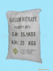 China 99,3% uso do nitrato do bário em fazer sais do bário, explosivo, fogo de artifício, vidro ótico on sale