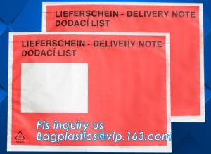 China Customize plastic self adhesive packing list bag, envelope cash bag/plastic envelope cash bag used in store & bank, bagp on sale