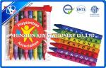 creyones no tóxicos formados pluma de los niños 8PCS fijados en el bolso del PVC, creyón de dibujo del multicolor de la cera