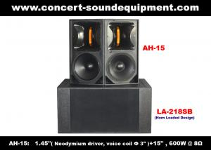 China 600W Concert Sound Equipment , 1.4 + 15 Full Range Speaker For Show , Conference , Living Event And DJ on sale