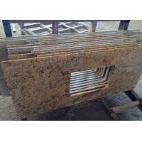 Single Sink Granite Vanity Tops / High Polish Granite Tile Countertop