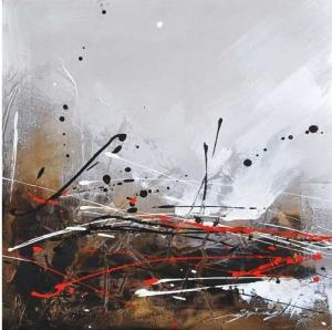 China hand painted abstract art oil painting on canvas on sale