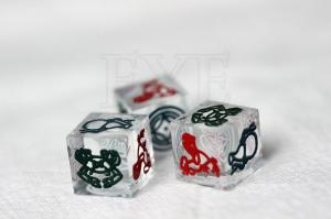 China 12mm / 14mm / 16mm Gamble Casino Game Dice With Animal Print on sale