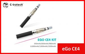China Black Ego CE4 E Cigarette , Ego E Cig Clearomizer 1400 Puffs on sale