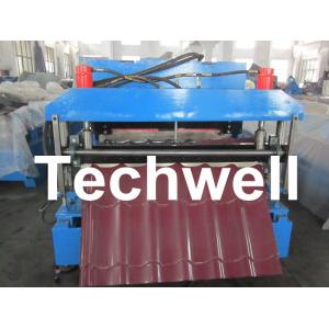 China Automatic Color Steel Roof Tile Roll Forming Machine With 11 Kw Hydraulic Motor Power on sale