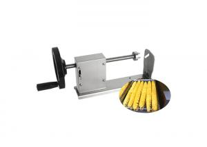 China SUS 304 Stainless Steel Multifunction Vegetable Cutting Machine Spiral Potato Cutter on sale