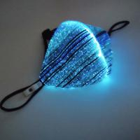 Plastic LED Light Up Mask , Sound Activated Type Light Up Face Shield