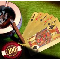 China Two Side Custom Playing Cards Card Games Gambling Charm Gold Foil PET Plastic Material on sale