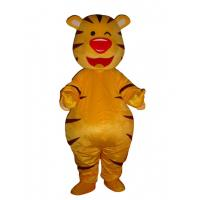 Adult Tiger yellow cute mascot costume animal Dluxe yellow tiger mascot costume