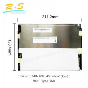 China Matte 10.4 inch 640*480 VGA tft lcd panel 80/60/80 , Brightness industrial lcd monitor on sale