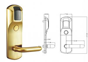 China V69 Management Sytem High Security Electric Door Lock RFID Card Hotel Smart Lock on sale