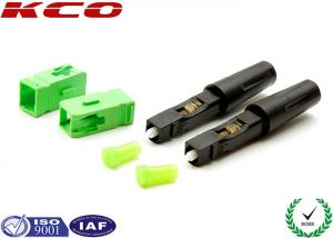 China Fiber Optic Field Assembly Connector SC / APC High Efficiency For  3.0 MM Cables on sale