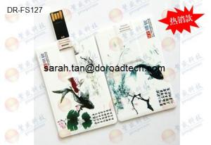 China Customized Plastic Credit Card USB Flash Drives with Colorful Printing on sale
