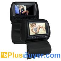 China 9 inch Car DVD Player Headrest with Protective Zipper Screen Cover (Games, FM, 1 Pair) on sale