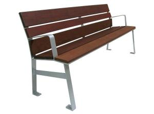 China Durable Hardwood Metal Home Furniture Aluminum Park Bench Seat With Back on sale