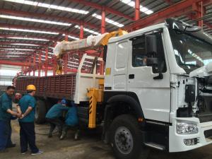 China Telescopic Boom Truck Mounted Crane / 12 Tons Cargo Mounting Crane ZZ1257M4341W on sale