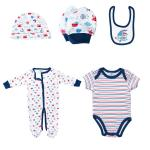 Printed Romper Matching Hat Baby Clothes Set Toddler Boys Coming Home Outfit