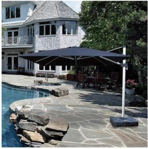 China Roma Garden Furniture 3M Outdoor Cantilever Patio Umbrella With Side Columns on sale