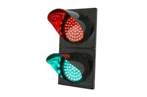 China RoHS Compliant 200mm Ball Traffic Light Red Green Sealed 50000 Hours Work Time on sale