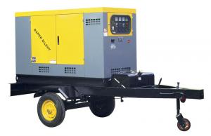China Electric Start small diesel generator Set with Mobile Trailer on sale