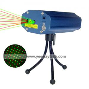 China Sound-Activated 100mw Red and 50mw Green Firefly Twinkling Mini Stage Laser Light Projector on sale