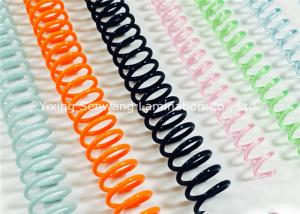 China Different Color  Plastic Spiral Binding Coils 48 Rings For Office Home School on sale
