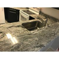 Decorative White Quartz Kitchen Countertops , Solid Surface Kitchen Countertops