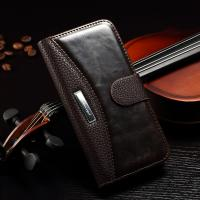Lichi Splitting Iphone 6 Leather Wallet Case Stand Function Card Holder