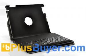 China Protective Case Holder + Wireless Bluetooth Keyboard for iPad 2/3 (360 Degree Rotation, QWERTY) on sale