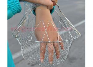 China Durable Fold Steam Rinse Fry Food Net Cook Chef Basket Strain Kitchen Tool on sale