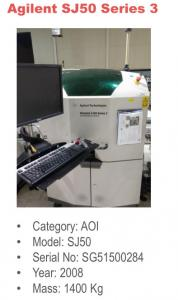 China wholesale used Agilent  AOI SJ50 Series2 & Serie3.7 machines.at $85,000 for whole set from brazil on sale